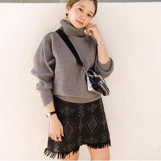 ビューティアンドユースユナイテッドアローズ(BEAUTY&YOUTH UNITED ARROWS)の【la Balance】Native JQ Fringe Skirt(ひざ丈スカート)