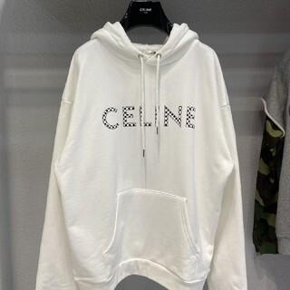 セリーヌ(celine)のCELINE パーカー 男女兼用 ホワイト(パーカー)