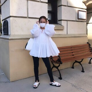 Drawer - yori ボリュームギャザーブラウス ホワイト 美品 完売 人気