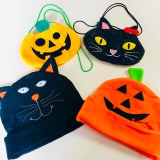 即購入可能!当日発送OK!ハロウィン黒猫かぼちゃポシェット仮装party(小道具)