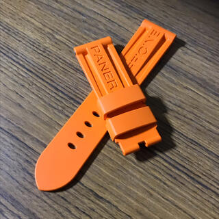 OFFICINE PANERAI - パネライ ラバーベルト 24×22mm オレンジ 純正品 PANERAI