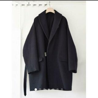 COMOLI - 19aw comoli ウールショールカラーコート ネイビー サイズ1