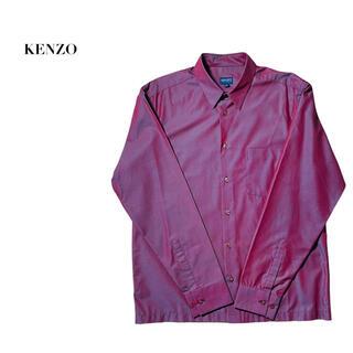 ケンゾー(KENZO)の【希少】KENZO 長袖シャツ 赤 玉虫色 クロスカラー ビックサイズ おすすめ(シャツ)