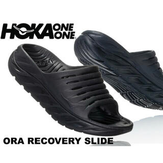 HOKA ONE ONE ホカオネオネ リカバリースライド サンダル 黒26cm