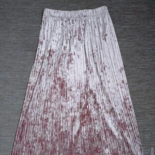ダズリン(dazzlin)のベロア素材ロングスカート 秋物 GYDA・moussy・MURUA・EMODA(ロングスカート)