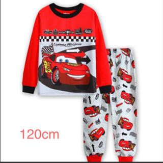 プリントキッズ 子供服 ジュニア 上下セットパジャマ 長袖 カーズ120cm