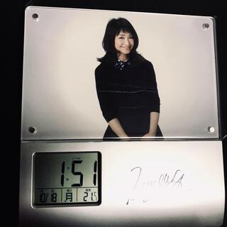 石川ひとみ 直筆サイン 生録音音声入 アラーム時計