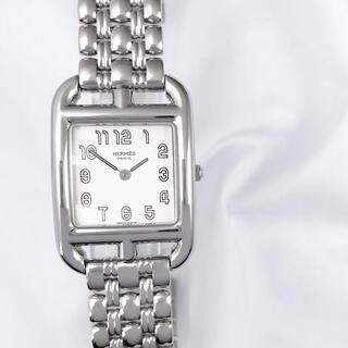 Hermes - 【保証書付】エルメス ケープコッド 白文字盤 ブレス レディース 腕時計