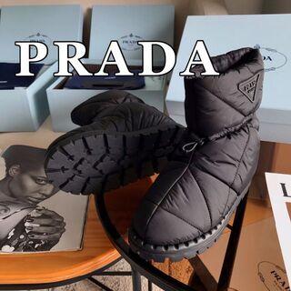 PRADA - PRADA パデッドナイロン ブーティー スニーカー