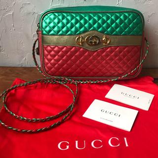 Gucci - GUCCI正規品 メタリックショルダーバッグ レザーキルティング ポシェット