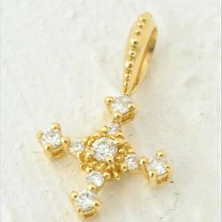 agete - agete K18 クロス ダイヤモンド チャーム ete siena