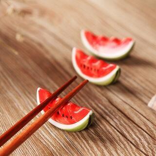 スイカ 箸置き 2点セット インテリア 箸おき //a2j(カトラリー/箸)