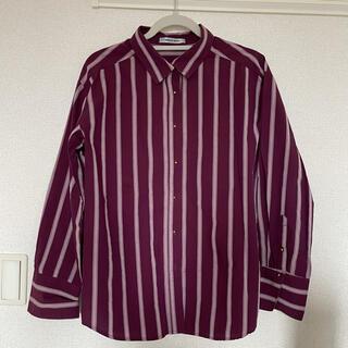 ローズバッド(ROSE BUD)の【ROSEBUD】美品 ストライプシャツ(シャツ/ブラウス(長袖/七分))