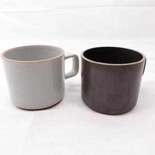 HASAMI PORCELAIN マグカップ ブラック/グレー