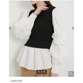 リエンダ(rienda)のニュアンスSLVシャツコンビKnit TOP(ニット/セーター)