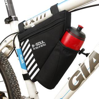 ⭐️コンパクトなのに大容量‼️  自転車用フレームバッグ ボトル入れ付き