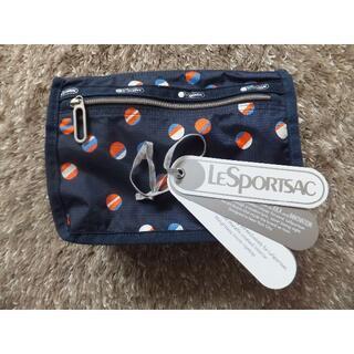 LeSportsac - 美品 レスポートサック エッセンシャル 水玉 コスメ ポーチ(紺)