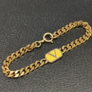 ヴァレンティノ(VALENTINO)の☆Valentino バレンティノ ロゴ ブレスレット ゴールド カラー(ブレスレット/バングル)