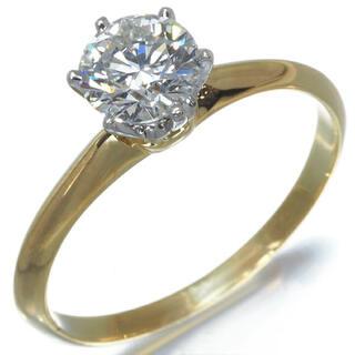 Tiffany & Co. - ティファニー k18 ダイヤモンド ソリティア 0.73ct リング 11号