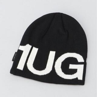 ウノピゥウノウグァーレトレ(1piu1uguale3)の新作 1PIU1UGUALE3 RELAX ビッグロゴニットキャップ ニット帽(キャップ)