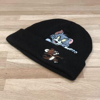 シュプリーム(Supreme)の超美品 シュプリーム トムとジェリー コラボ ニットキャップ ビーニー 黒(ニット帽/ビーニー)