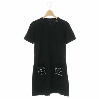 LOUIS VUITTON - ルイヴィトン エンブロイダリーTシャツドレスワンピース 半袖 ミニ ビジュー装飾