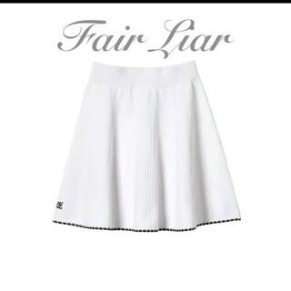 マークアンドロナ(MARK&LONA)の【新品未使用】韓国ゴルフウェア fair liar ニットスカート(ウエア)