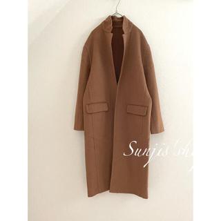 ドゥーズィエムクラス(DEUXIEME CLASSE)のWhimGazette brown ガウンコート wool ロングコート(ガウンコート)