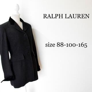 ラルフローレン(Ralph Lauren)のラルフローレン ヘリンボーン ツイード チェスターコート ロングコート グレー(チェスターコート)