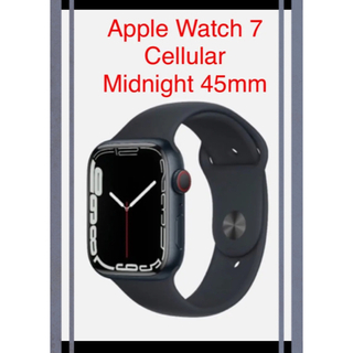Apple Watch - Apple Watch 7 GPS Cellular Midnight 45mm