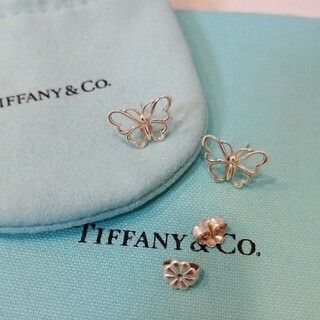 Tiffany & Co. - ティファニー ニューバタフライピアス シルバー パピヨン 蝶 Tiffany