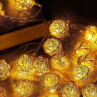 LEDストリングライト LEDボールライト 4m 20電球 点滅機能 装飾ライト