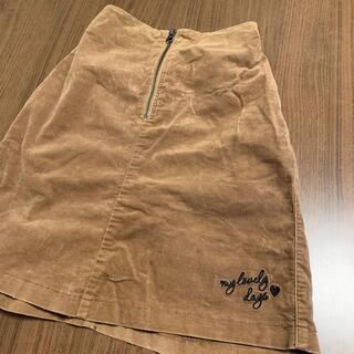 GU - 【中古】GUスウェードタッチミニスカート サイズ150