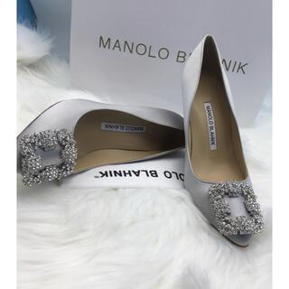 マノロブラニク(MANOLO BLAHNIK)の36cm MANOLO BLAHNIK シルバーハイヒール(ハイヒール/パンプス)