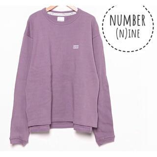 ナンバーナイン(NUMBER (N)INE)のNUMBER(N)INE【美品】ロゴ 刺繍 長袖 スウェット トレーナー(トレーナー/スウェット)