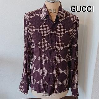 Gucci - GUCCI 長袖 ボタン シャツ