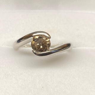 プラチナブラウンダイヤモンド1.051