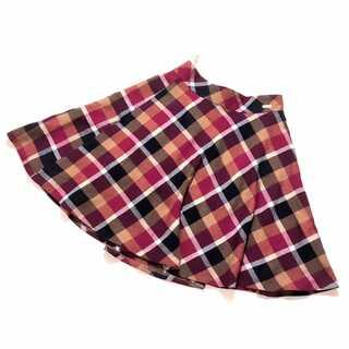 BURBERRY - 美品 ブルーレーベル クレストブリッジ チェック柄 ウール スカート