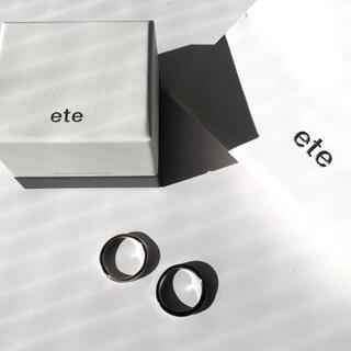ete - 超特価 ★ ete ペアリング ピンクゴールド シルバー ダイヤモンド 指輪