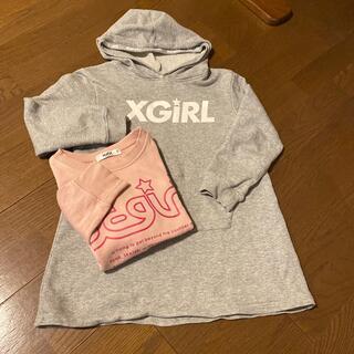 エックスガールステージス(X-girl Stages)のX girlワンピースとスウェット130(ワンピース)