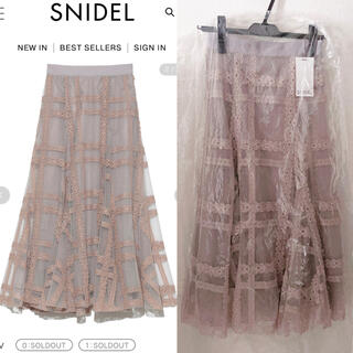 snidel - 新品✨SNIDEL チュールエンブロイダリースカート