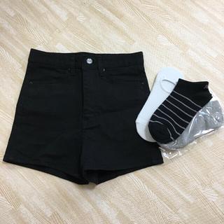 まとめ売り / ハイウェストショートパンツ 靴下3個
