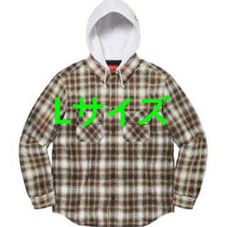 Supreme - Supreme Hooded Flannel Zip Up Shirt Lサイズ
