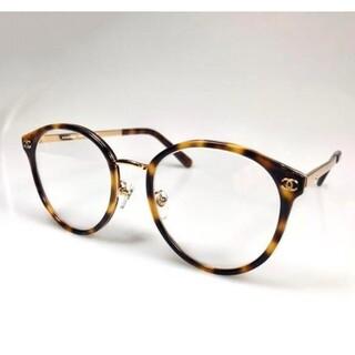 【2133 】素敵?★シャネル ★眼鏡用フレームココマーク付ブラウン鼈甲色