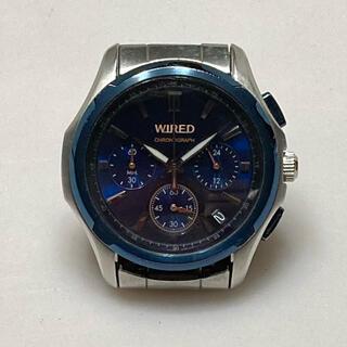 WIRED - r6 WIRED クロノグラフ 腕時計 VK63-K013 ブルー シルバー