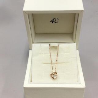4℃ - EAUDOUCE   4℃  K10 ピンクゴールド ペンダント付ネックレス