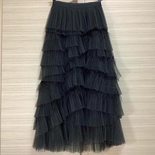 ドゥロワー(Drawer)の【新品】BRUNELLO CUCINELLI  ★プリーツ・羽根装飾・スカート★(ロングスカート)