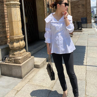 SATOKA IRIS アイリス ビッグカラー ブラウス ホワイト 襟