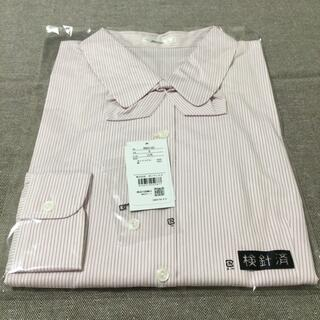 BONMAX - 【新品タグ付き】 事務服 長袖ブラウス 15号 ピンク×白