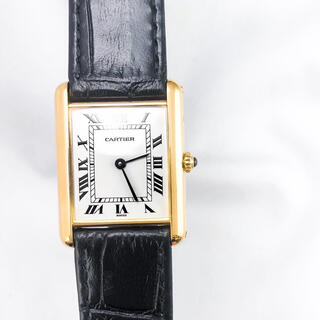 Cartier - 【OH済】 カルティエ タンク ルイ ローマン YG レディース 腕時計
